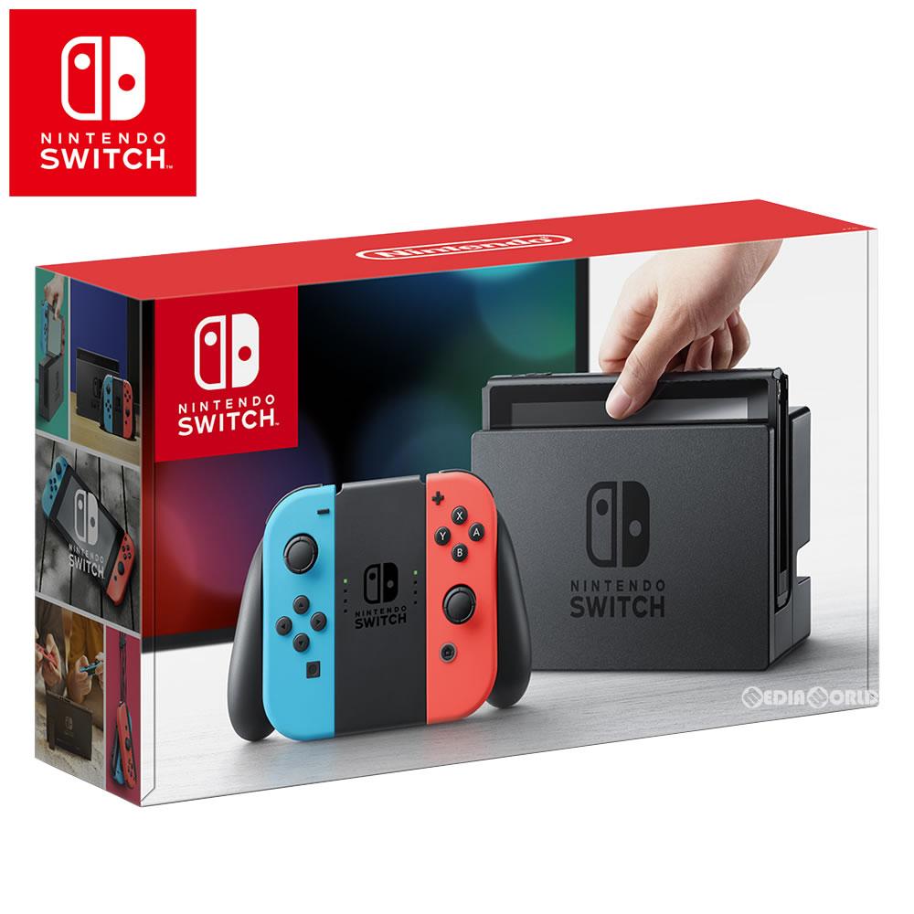 【新品即納】【正規流通品】[本体][Switch]Nintendo Switch(ニンテンドースイッチ) Joy-Con(L) ネオンブルー/(R) ネオンレッド(HAC-S-KABAA)(20170303)