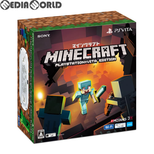 【中古】[本体][PSVita]PlayStation Vita Minecraft(マインクラフト) Special Edition Bundle パッケージ版(PCH-2000ZA22/MC1)(20161206)