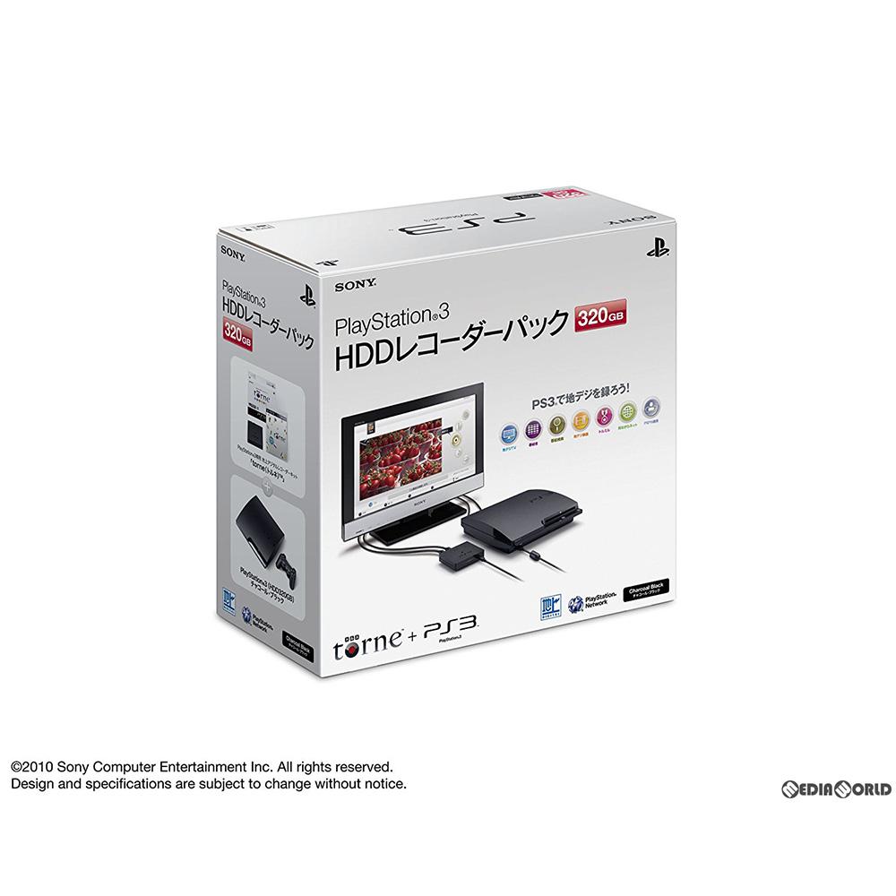 【中古】[本体][PS3]PlayStation3 HDDレコーダーパック 320GB チャコール・ブラック(CEJH-10013)(20101118)