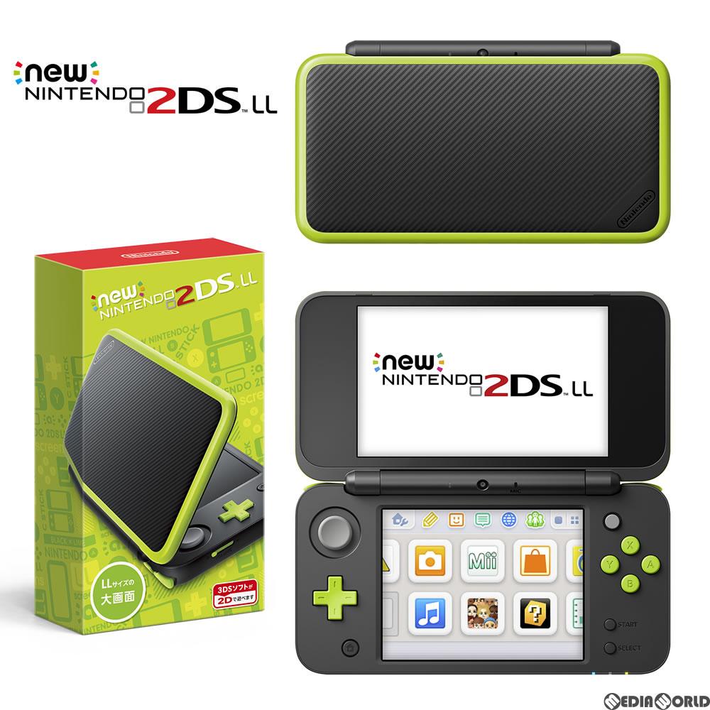 【新品即納】[本体][3DS]Newニンテンドー2DS LL ブラック×ライム(JAN-S-MAAA)(20171005)