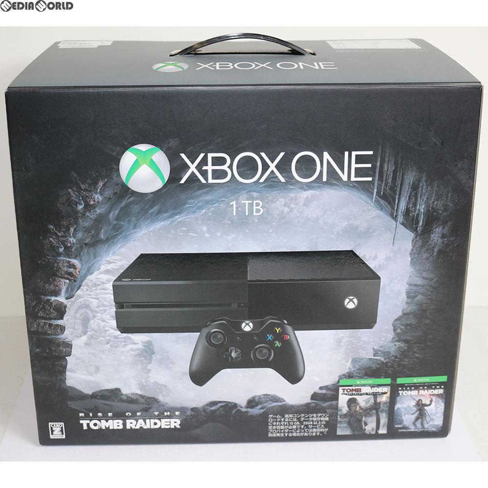 【中古】[本体][XboxOne](本体単品)Xbox One 1TB(Rise of the Tomb Raider(ライズ オブ ザ トゥームレイダー) 同梱版)(KF7-00036)(20151105)