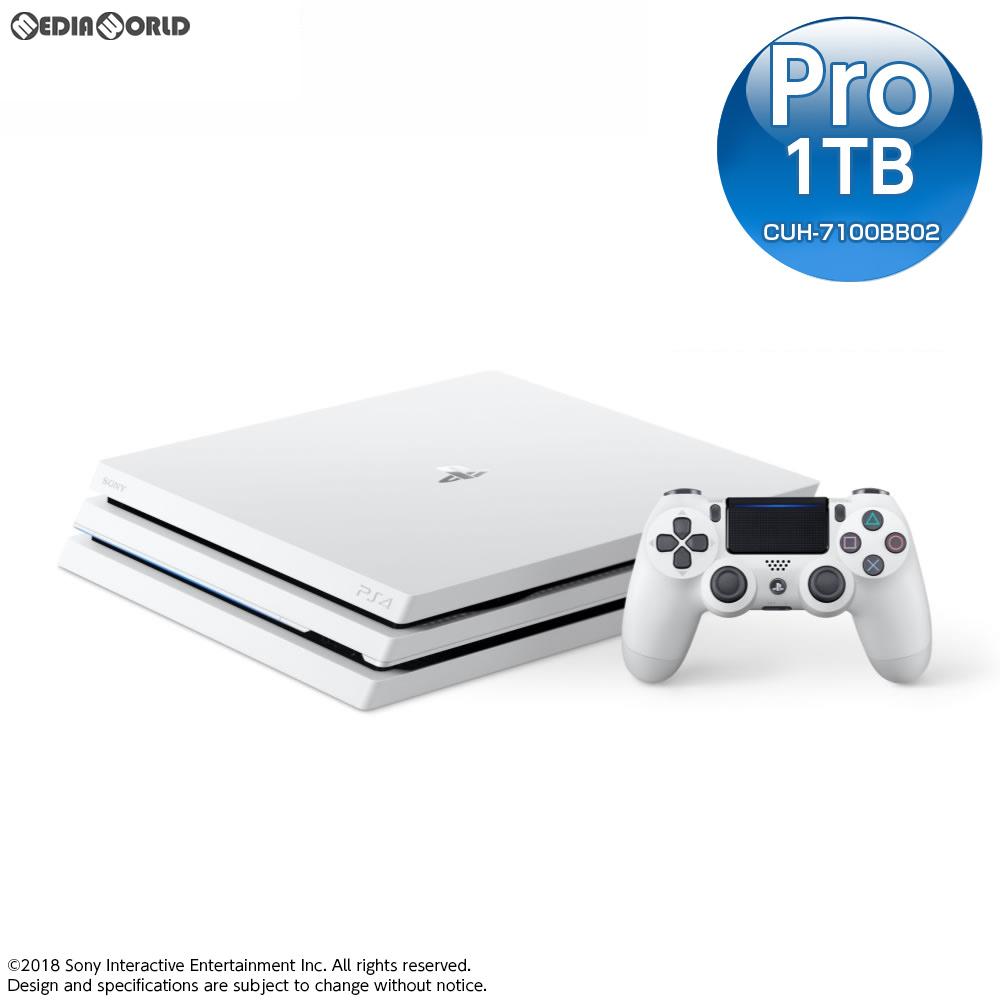 【中古】[本体][PS4]プレイステーション4 プロ PlayStation4 Pro グレイシャー・ホワイト 1TB(CUH-7100BB02)(20180308)