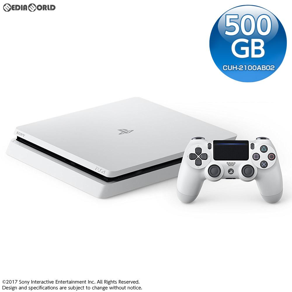 【中古】[本体][PS4]モノラルヘッドセット無し プレイステーション4 PlayStation4 グレイシャー・ホワイト 500GB(CUH-2100AB02)(20170729)
