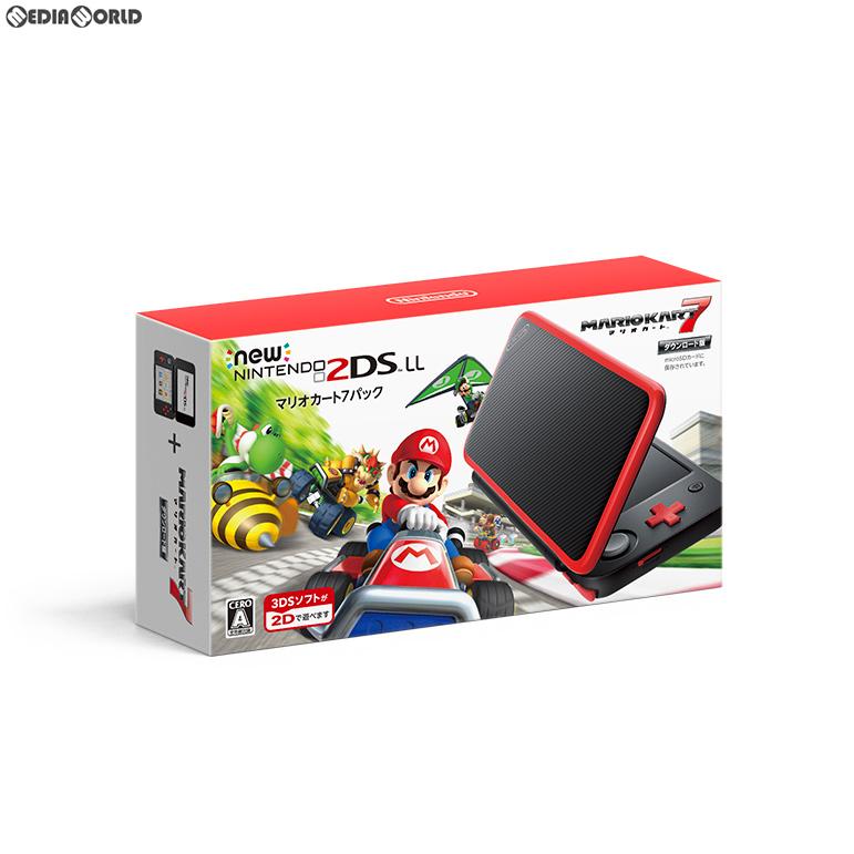 【新品即納】[本体][3DS]Newニンテンドー2DS LL マリオカート7パック(JAN-S-RADH)(20180719)