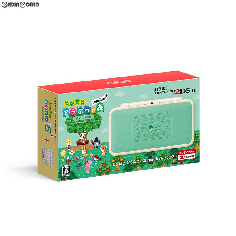 【新品即納】[本体][3DS]Newニンテンドー2DS LL とびだせ どうぶつの森 amiibo+パック(JAN-S-WADF)(20180719)