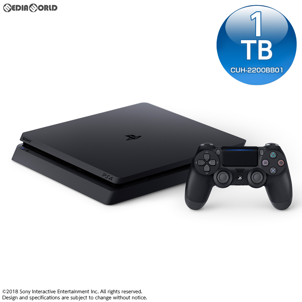 【中古】[本体][PS4]プレイステーション4 PlayStation4 ジェット・ブラック 1TB(CUH-2200BB01)(20180712)