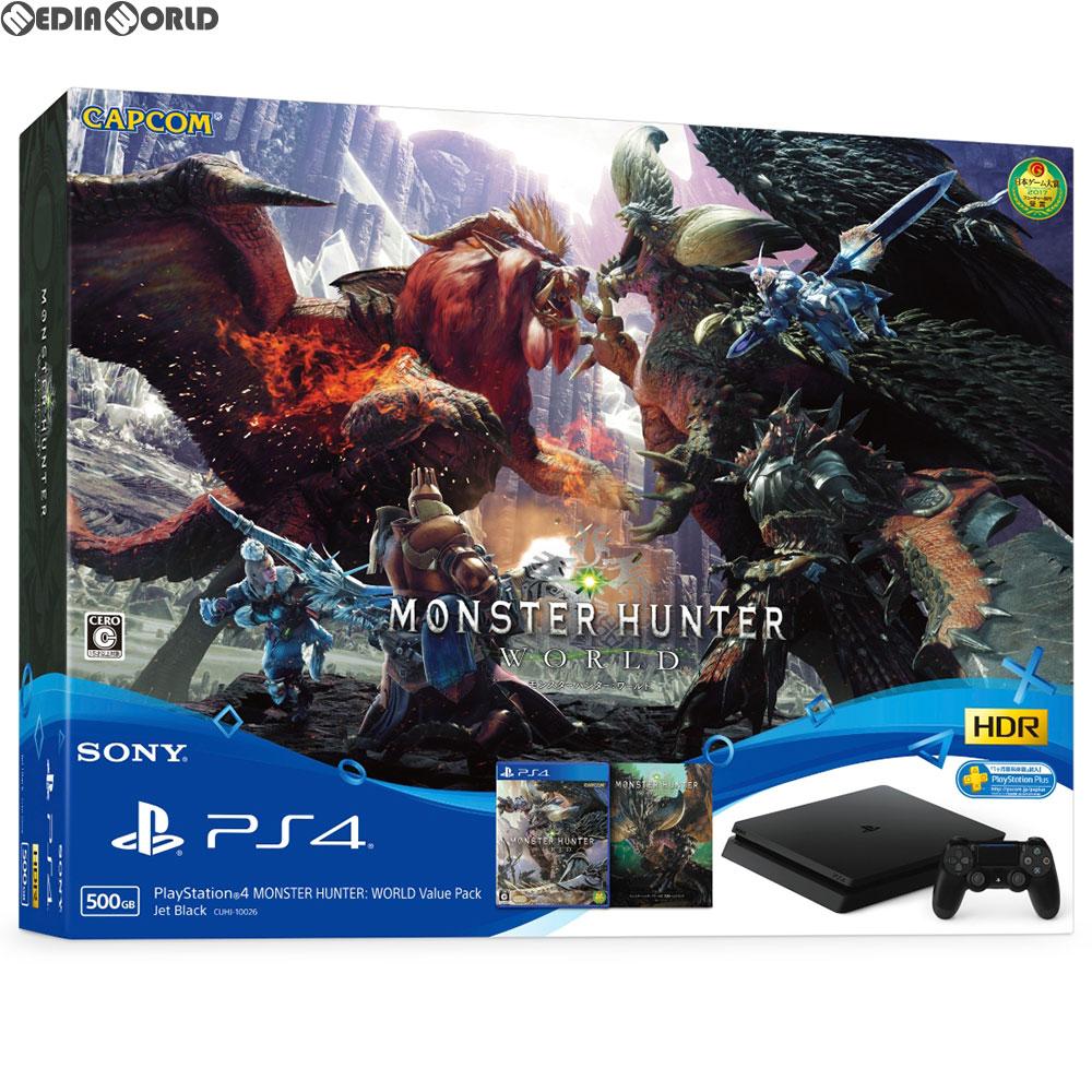 【中古】[本体][PS4]プレイステーション4 PlayStation4 MONSTER HUNTER: WORLD Value Pack(モンスターハンター:ワールド バリューパック)(CUHJ-10026)(20180726)