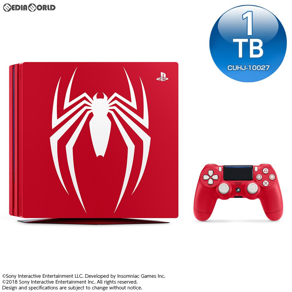 【中古】[本体][PS4]プレイステーション4 プロ PlayStation 4 Pro Marvel's Spider-Man(マーベル スパイダーマン) Limited Edition(CUHJ-10027)(20180907)