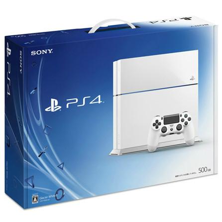 【中古】[本体][PS4]プレイステーション4 PlayStation4 HDD500GB グレイシャー・ホワイト(CUH-1100AB02)(20141009)