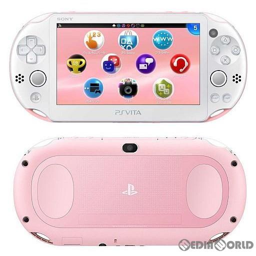 【中古】[本体][PSVita]PlayStationVita Wi-Fiモデル ライトピンク/ホワイト(PCH-2000ZA19)(20141113)