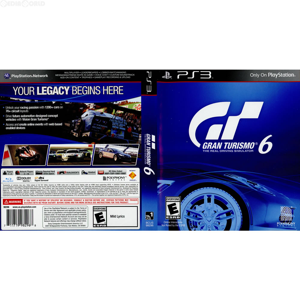 media world ps3 gran turismo 6 gran turismo 6. Black Bedroom Furniture Sets. Home Design Ideas