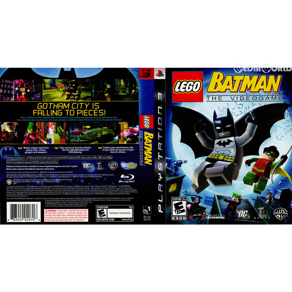 Media World: PS3LEGO Batman THE VIDEO GAME (レゴバットマンザビデオ ...