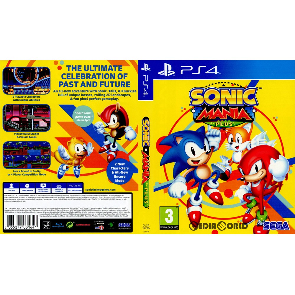 [PS4]Sonic Mania Plus (sonic enthusiast plus) (EU version)  (CUSA-12236)(20180717)