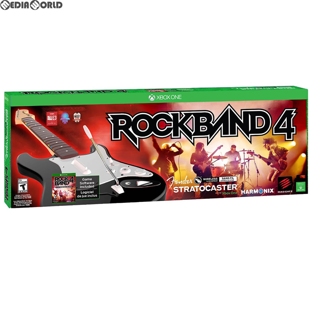 【中古】[XboxOne]Rock Band 4(ロックバンド4) Wireless Fender Stratocaster Guitar Controller Bundle(北米版)(20151006)