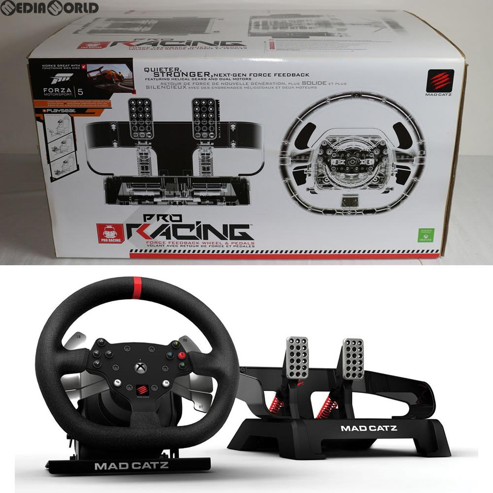 【中古】[ACC][XboxOne]Pro Racing Force Feedback Wheel & Pedals(Xbox One)(プロ レーシング フォースフィードバック ホイール&ペダル) Mad Catz(マッドキャッツ)(MCX-RW-MC-PRO)(20141030)