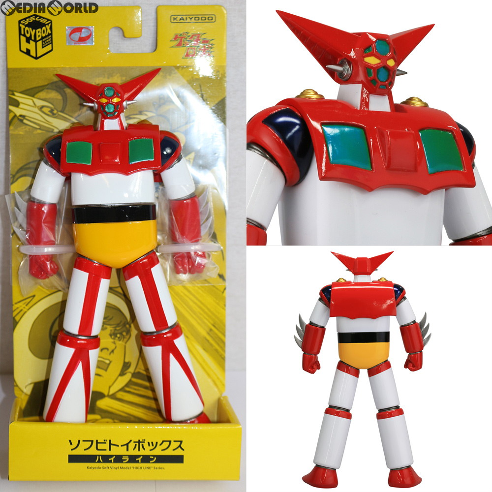 Kaiyodo Sofubi Toy Box Hi-Line 004 Getter Robo Getter 1 Pre-Painted From Japan