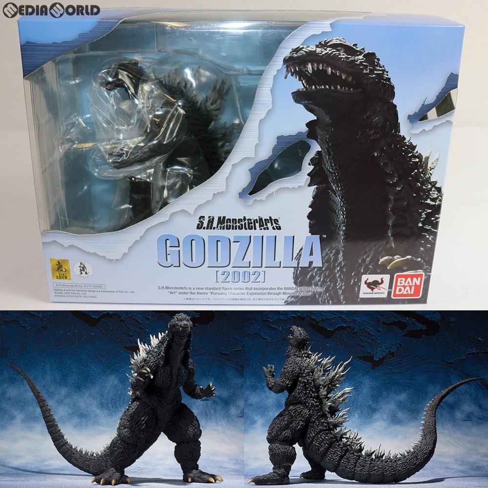 【中古】[未開封][FIG]S.H.MonsterArts(モンスターアーツ) ゴジラ(2002) ゴジラ×メカゴジラ 完成品 可動フィギュア バンダイ(20180428)
