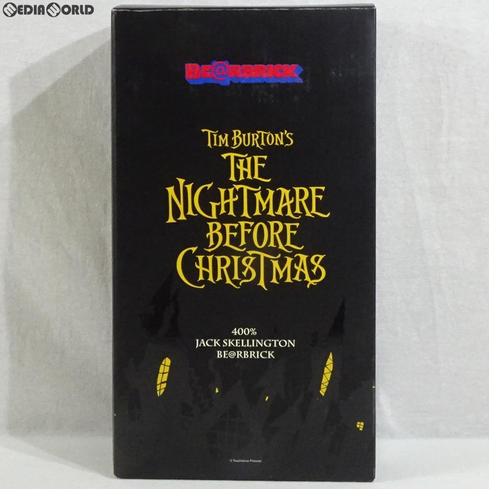 【中古】[FIG]WCC23開催記念限定 BE@RBRICK(ベアブリック) No.000NBC' Jack Skellington 400% ナイトメアー・ビフォア・クリスマス 完成品 可動フィギュア メディコム・トイ(20061203)