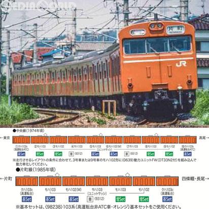 【新品】【O倉庫】[RWM]98238 国鉄 103系(高運転台非ATC・オレンジ)基本セット(4両) Nゲージ 鉄道模型 TOMIX(トミックス)(20170226)