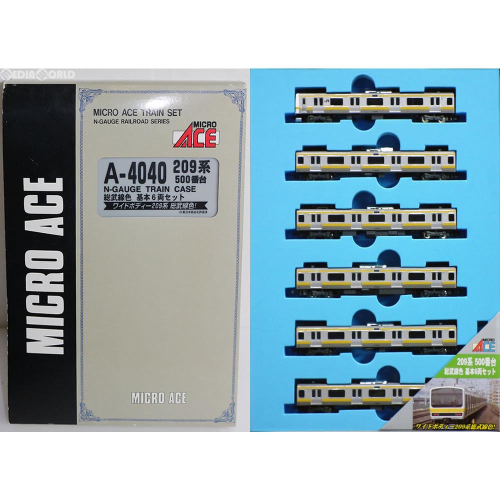 【中古】[RWM]A4040 209系500番台 総武線色 基本6両セット Nゲージ 鉄道模型 マイクロエース マイクロエース(20030617)