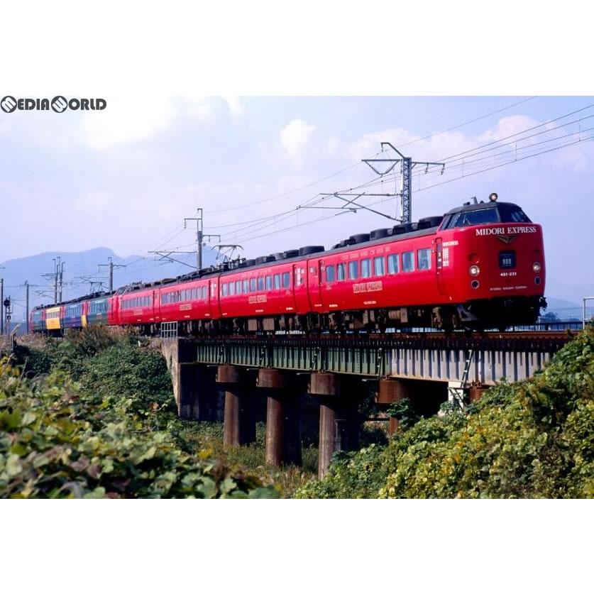【新品】【O倉庫】[RWM]98250 JR 485系特急電車(MIDORI EXPRESS)セットA(4両) Nゲージ 鉄道模型 TOMIX(トミックス)(20180201)