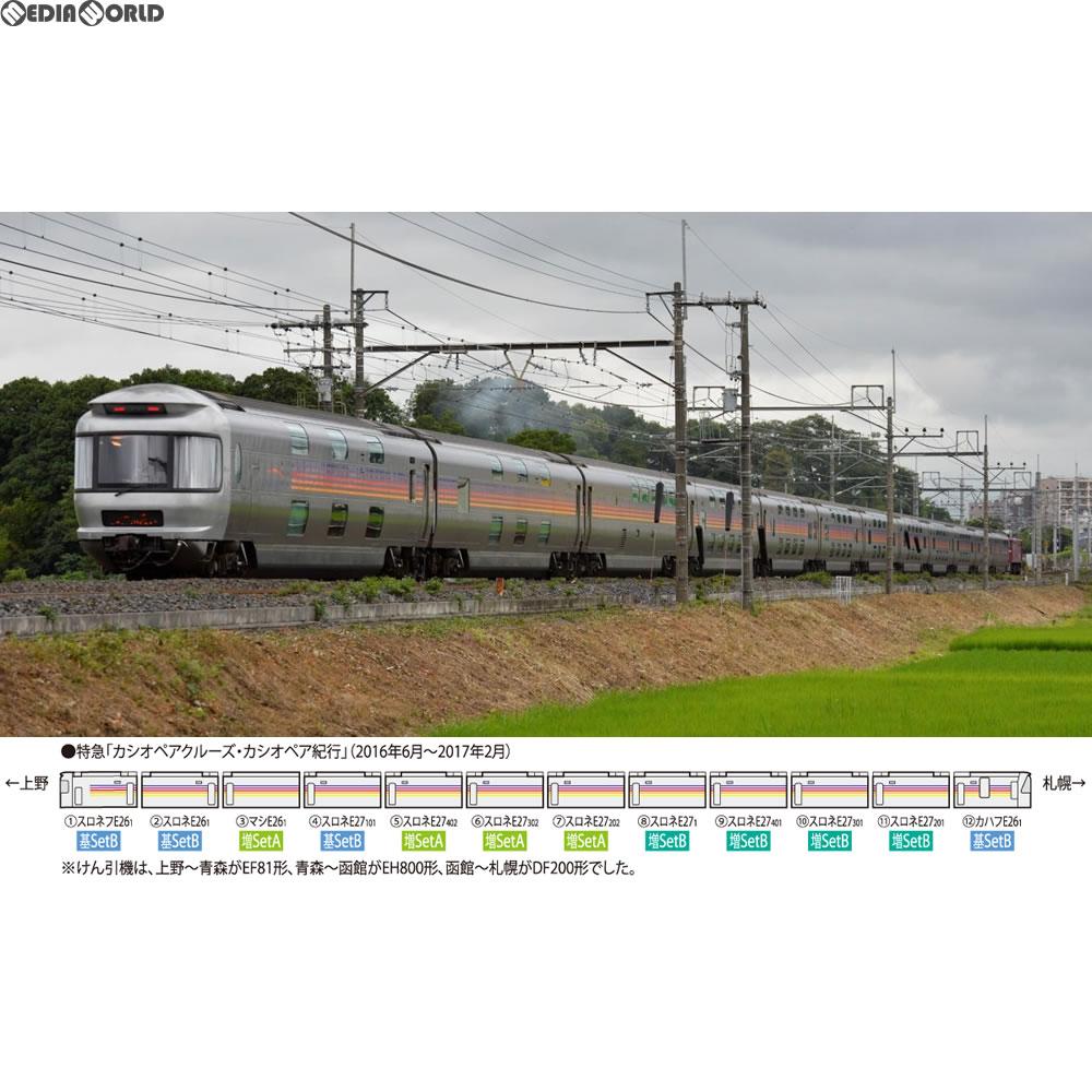 【新品即納】[RWM]HO-9031 JR E26系特急寝台客車(カシオペア)基本セットB(4両) HOゲージ 鉄道模型 TOMIX(トミックス)(20180301)