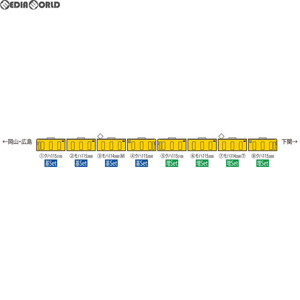 【新品】【O倉庫】[RWM]98287 JR 115-2000系近郊電車(JR西日本40N更新車・黄色)増結セット(4両) Nゲージ 鉄道模型 TOMIX(トミックス)(20180616)