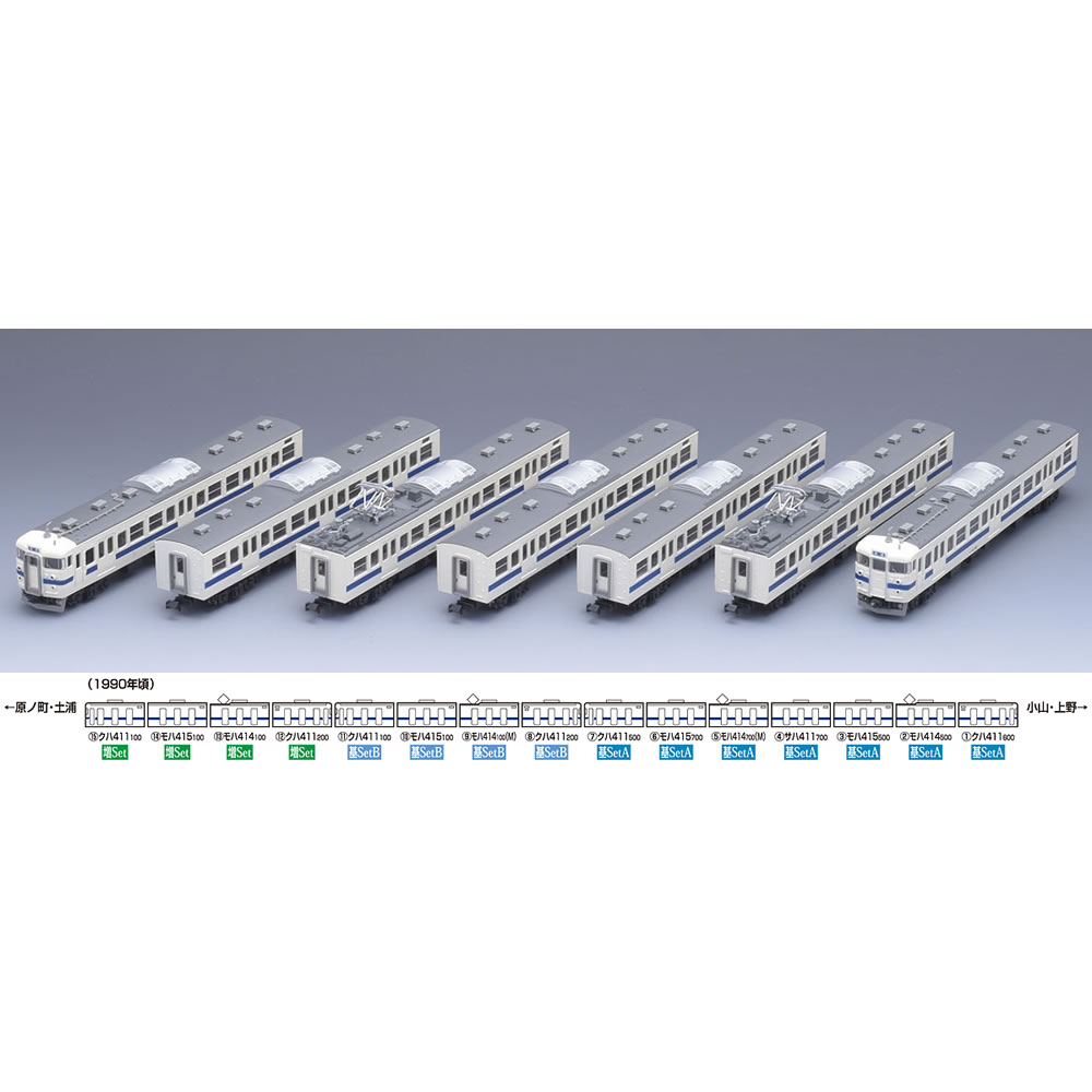 【新品】【O倉庫】[RWM](再販)92884 国鉄 415系近郊電車(常磐線)基本セットA(7両) Nゲージ 鉄道模型 TOMIX(トミックス)(20180731)