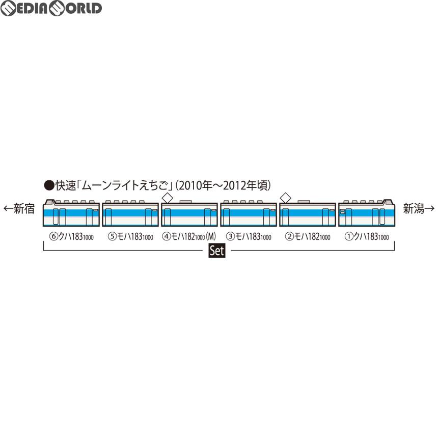 【新品】【O倉庫】[RWM]98645 183-1000系電車(幕張車両センター・あずさ色)セット(6両) Nゲージ 鉄道模型 TOMIX(トミックス)(20180928)