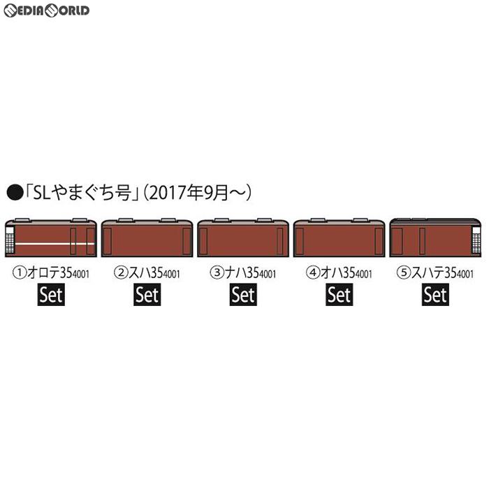 【新品】【O倉庫】[RWM]98279 R 35-4000系客車(SLやまぐち号)セット(5両) Nゲージ 鉄道模型 TOMIX(トミックス)(20180929)