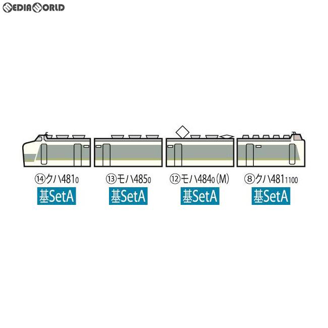 【新品】【O倉庫】[RWM]98316 JR 485系特急電車(ひたち)基本セットA(4両) Nゲージ 鉄道模型 TOMIX(トミックス)(20190216)