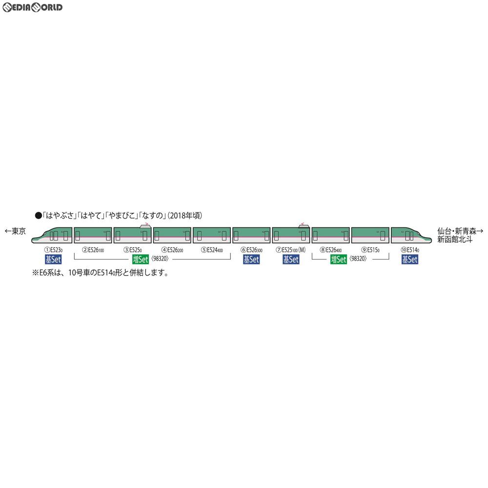【新品】【O倉庫】[RWM]98319 JR E5系東北・北海道新幹線(はやぶさ・増備型)基本セット(4両) Nゲージ 鉄道模型 TOMIX(トミックス)(20190324)