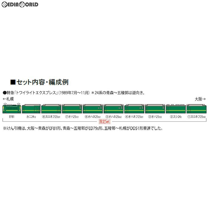 【新品】【O倉庫】[RWM]97903 限定品 JR EF81・24系(トワイライトエクスプレス・登場時)セット(10両) Nゲージ 鉄道模型 TOMIX(トミックス)(20190330)