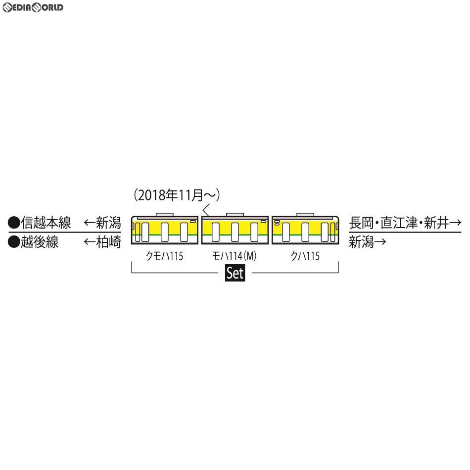 【新品】【O倉庫】[RWM]98333 JR 115-1000系近郊電車(弥彦色)セット(3両) Nゲージ 鉄道模型 TOMIX(トミックス)(20190601)