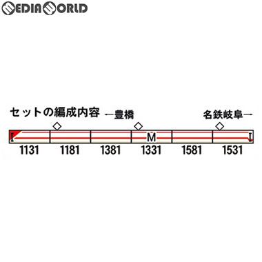 【予約安心発送】[RWM]50628 名鉄1030/1230系(パノラマsuper デビュー30周年ヘッドマーク付き)6両編成セット(動力付き) Nゲージ 鉄道模型 GREENMAX(グリーンマックス)(2019年7月)