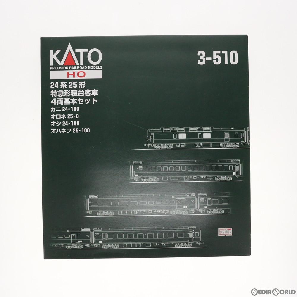 【中古】[RWM]3-510 (HO)24系25形寝台特急客車 4両基本セット HOゲージ 鉄道模型 KATO(カトー)(20051231)