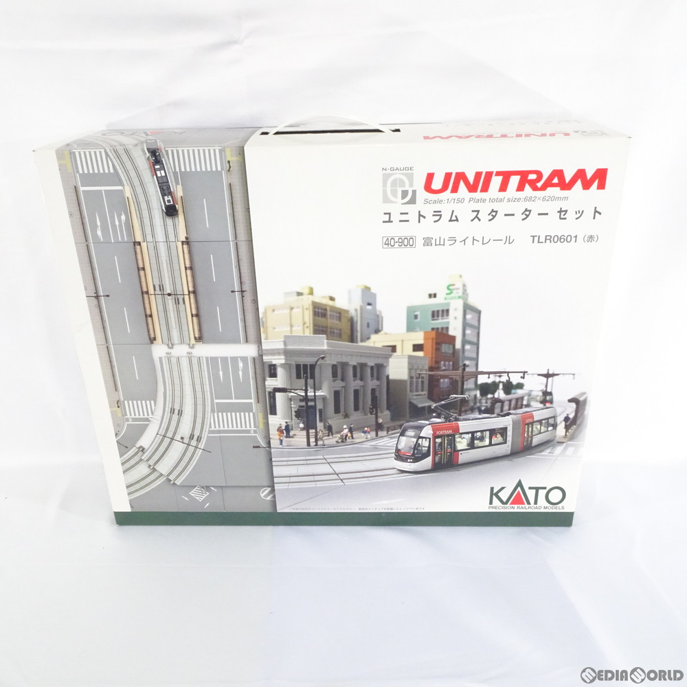 【新品】【O倉庫】[RWM]40-900 UNITRAM(ユニトラム) スターターセット 富山ライトレール TLR0600形(青) Nゲージ 鉄道模型 KATO(カトー)(20131130)