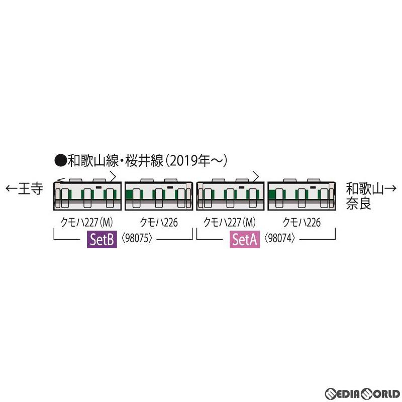 【予約安心発送】[RWM]98075 JR 227-1000系近郊電車(和歌山・桜井線)セットB(2両) Nゲージ 鉄道模型 TOMIX(トミックス)(2020年4月)