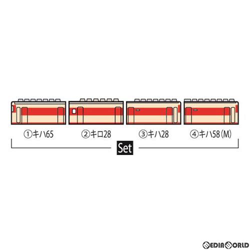 【予約安心発送】[RWM]98369 JR キハ58系急行ディーゼルカー(のりくら)セット(4両) Nゲージ 鉄道模型 TOMIX(トミックス)(2020年6月)