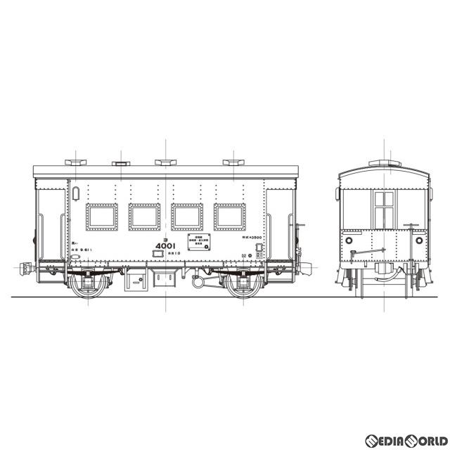 【予約安心発送】[RWM]16番 国鉄 ヨ3500形 車掌車(標準タイプ) 組立キット HOゲージ 鉄道模型 ワールド工芸(2020年7月)