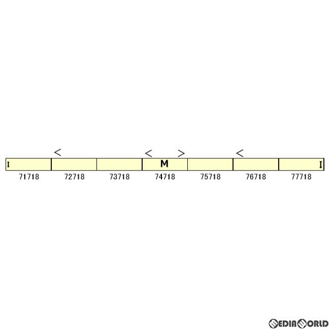 【予約安心発送】[RWM]30341 東武70000系(71718編成) 7両編成セット(動力付き) Nゲージ 鉄道模型 GREENMAX(グリーンマックス)(2020年7月)