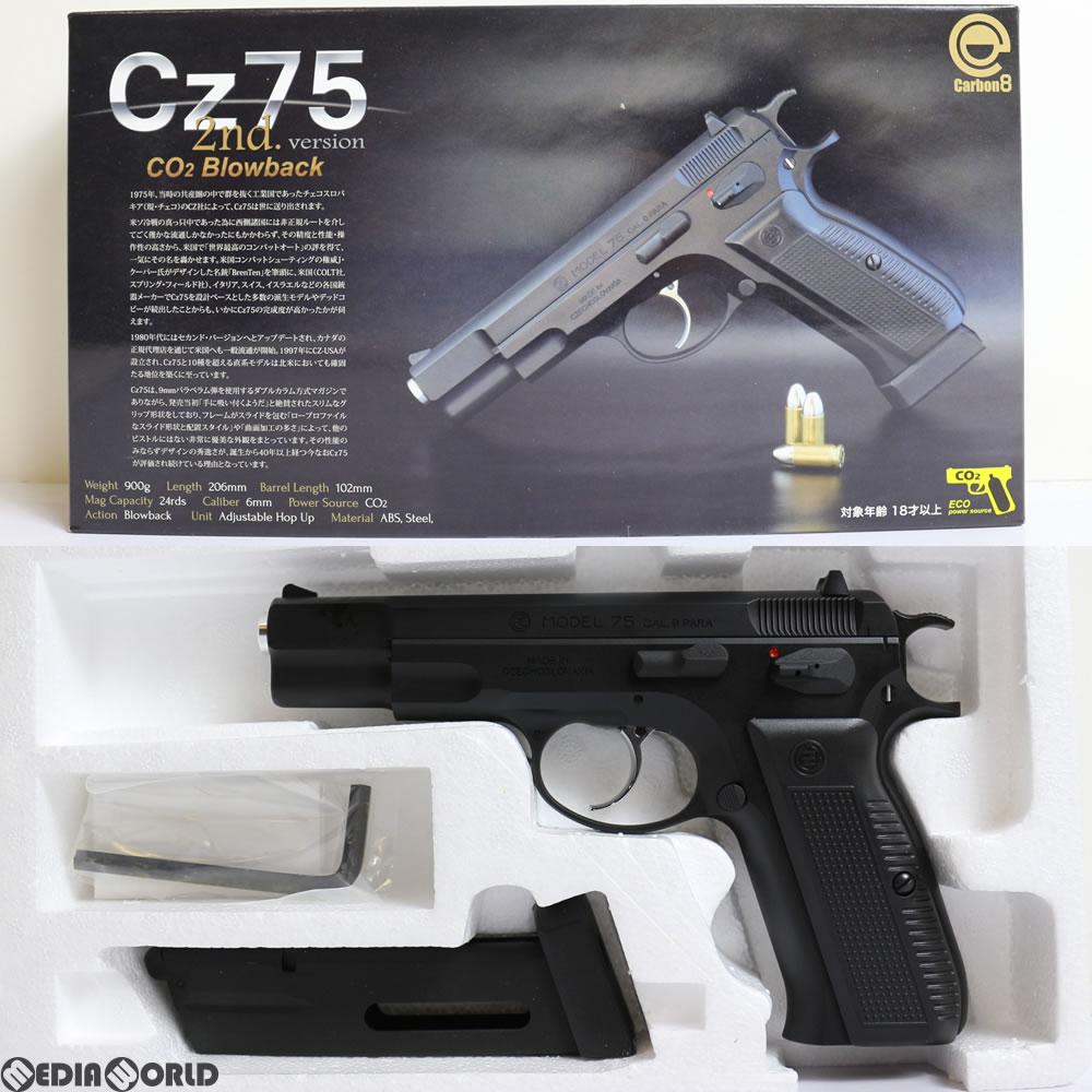 【新品即納】[MIL]Carbon8(カーボネイト) CO2 ガスブローバック Cz75 2nd.ver ABS樹脂スライド(CB01BK) (18歳以上専用)(20171118)