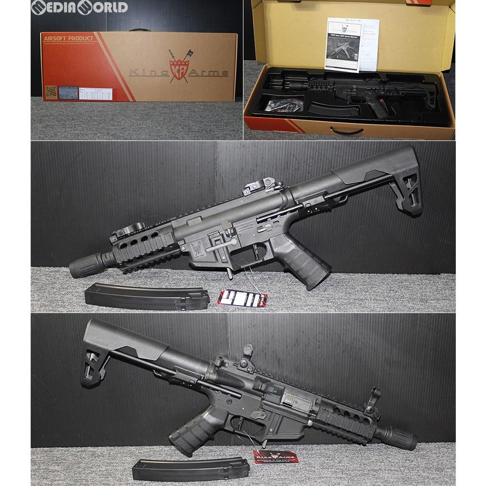 【新品即納】[MIL]KingArms(キングアームズ) 電動サブマシンガン PDW 9mm SBR ショーティー BK(ブラック/黒)(KA-AG-229-BK) (18歳以上専用)(20181025)