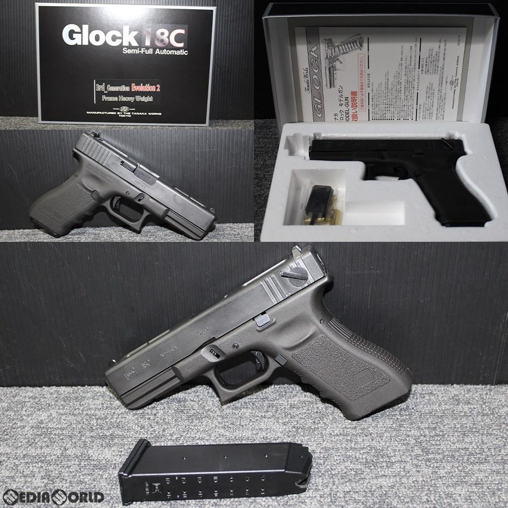 【新品即納】[MIL]タナカワークス 発火モデルガン Glock18C 3rd Generation Evolution2 Frame HW(グロック18C サードジェネレーション フレーム エボリューション2 ヘビーウェイト)(20190117)