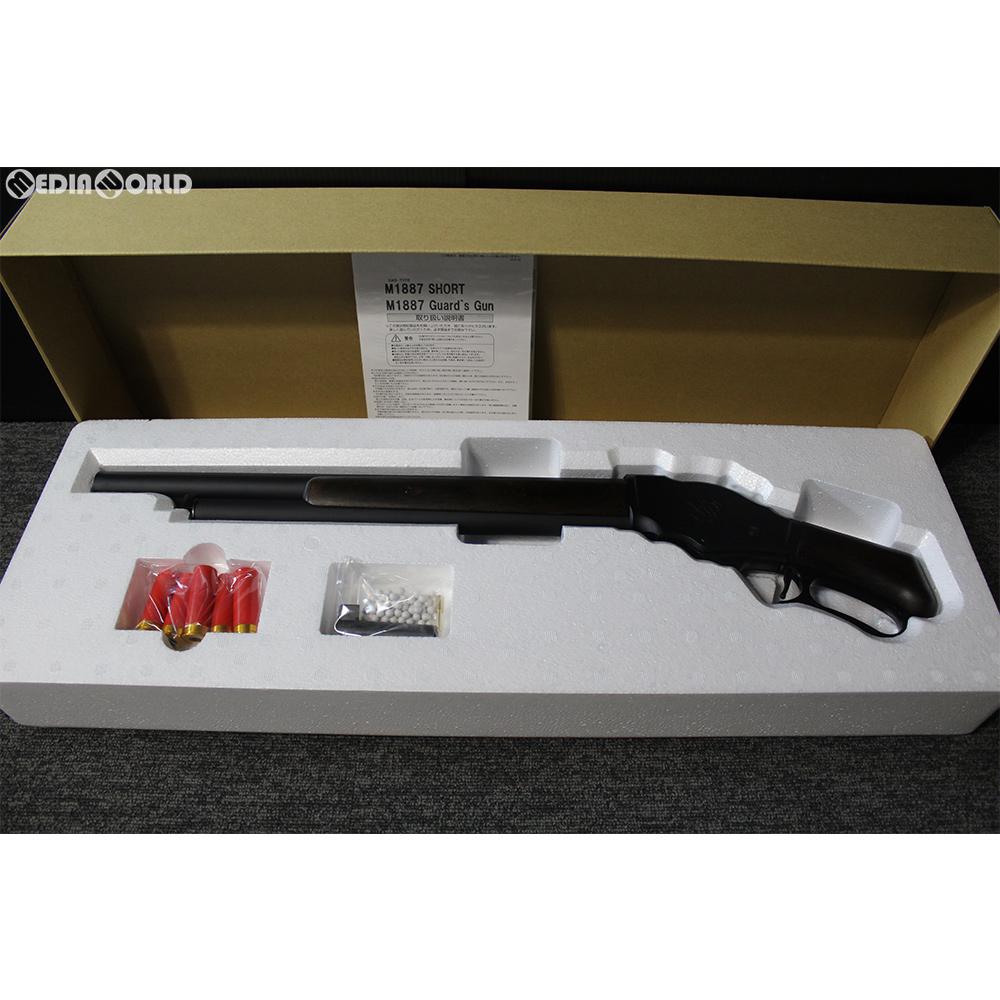 【新品即納】[MIL]マルシン工業 ガスショットガン M1887 ショート 木製ストックバージョン マットブラック 6mmBB HW(ヘビーウェイト) (18歳以上専用)(20171218)