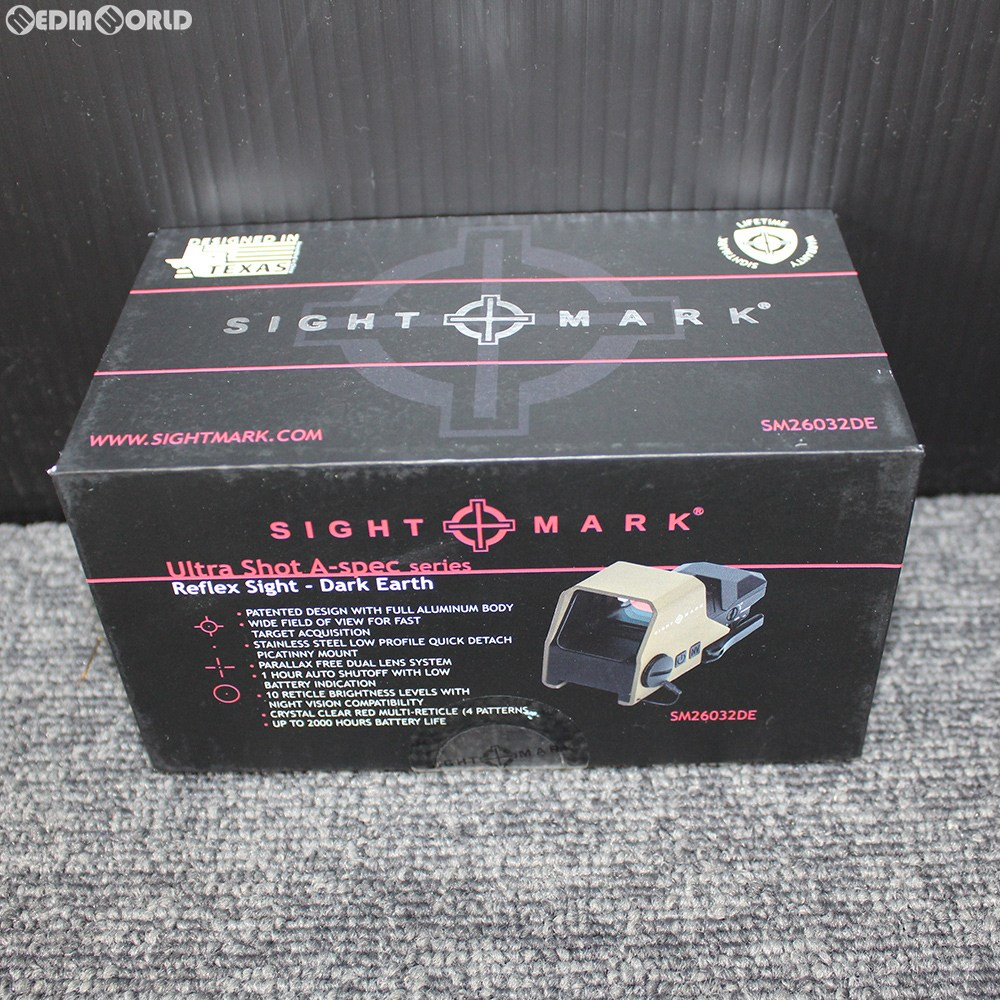 【新品即納】[MIL]SIGHTMARK(サイトマーク) Ultra Shot A-Spec Reflex Sight(ウルトラショット A-スペック リフレックスサイト) DE(ダークアース)(SM26032DE)(20190626)