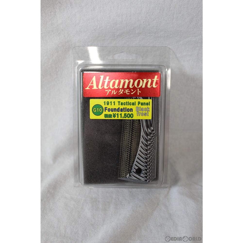 【新品即納】[MIL]Altamont(アルタモント) 1911用 G10 ファウンデーション 木製グリップ ブラックフロスト(20191022)