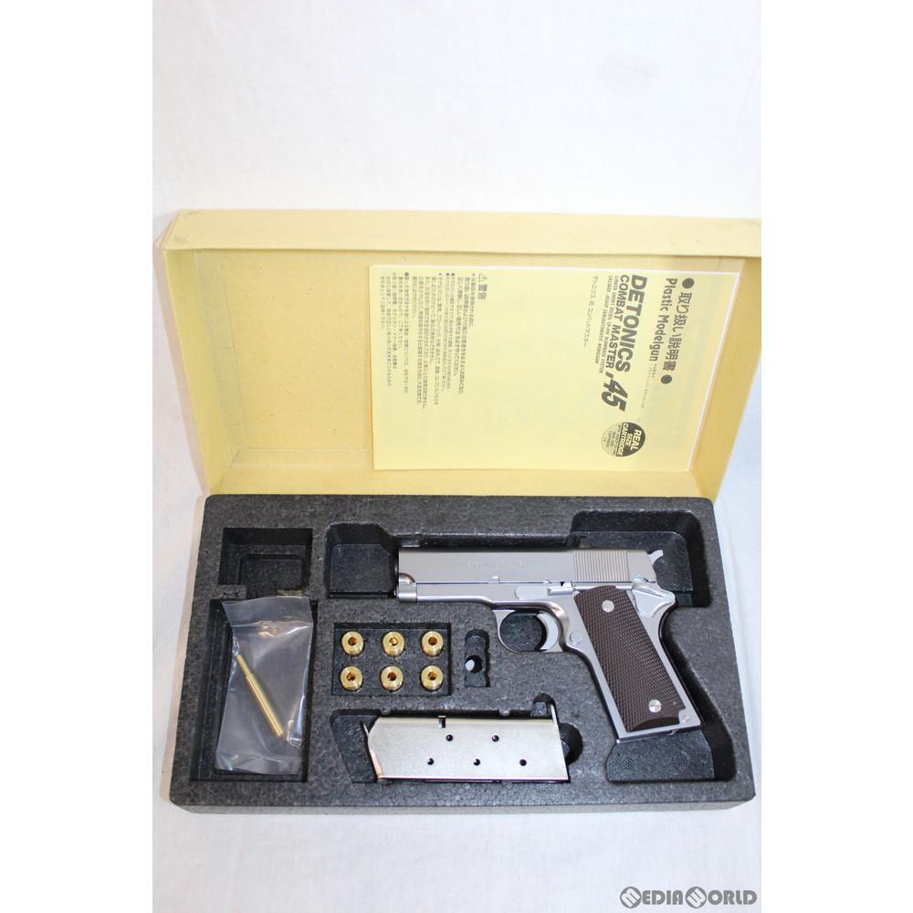 【中古】[MIL]CAW(クラフトアップルワークス) 発火モデルガン MGCリバイバル デトニクス.45 コンバットマスター ステンレスシルバーモデル