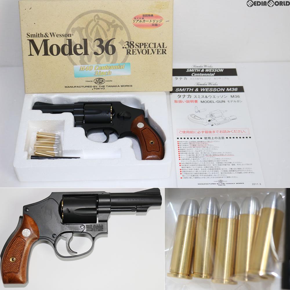 【中古】[MIL]タナカワークス 初回特典付き モデルガン S&W M40 3インチ センチニアル(20130630)