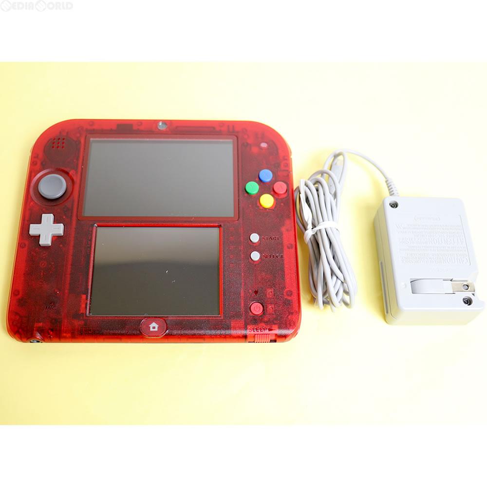 media world it is 3ds nintendo 2ds clear red pocket monster red